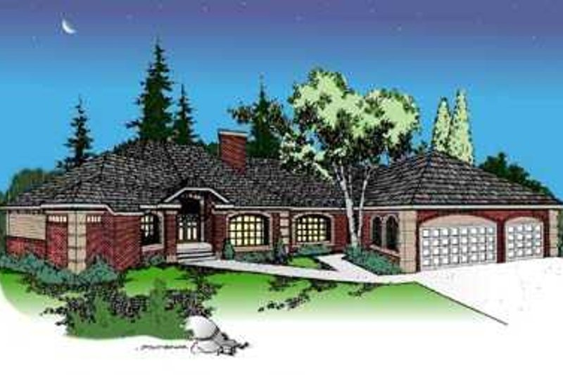 Dream House Plan - European Exterior - Front Elevation Plan #60-491