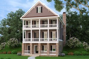 Southern Exterior - Front Elevation Plan #419-299
