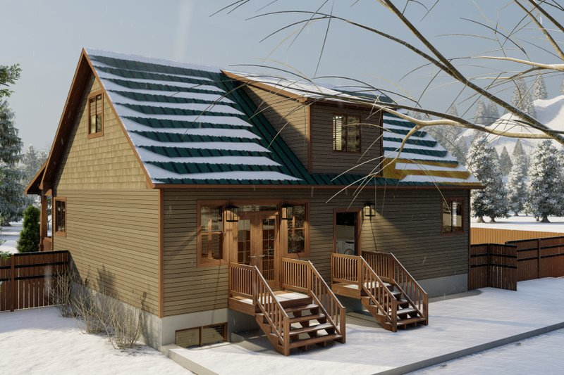 Home Plan - Cabin Exterior - Rear Elevation Plan #1060-24
