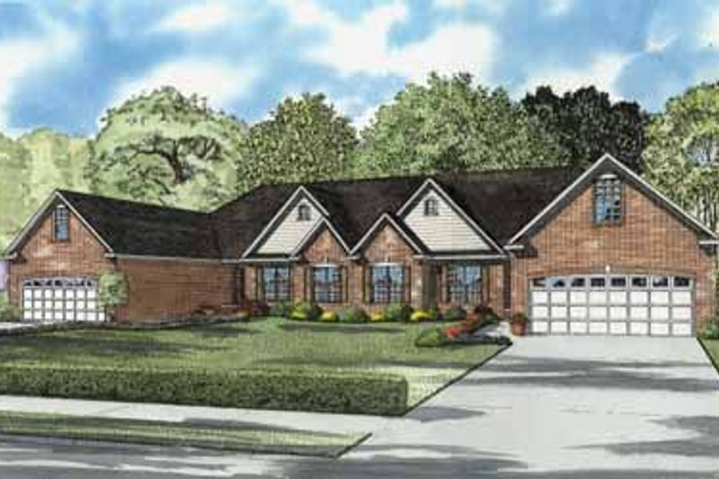 House Plan Design - Traditional Exterior - Front Elevation Plan #17-591