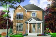 European Style House Plan - 3 Beds 2.5 Baths 1170 Sq/Ft Plan #23-343 Exterior - Front Elevation
