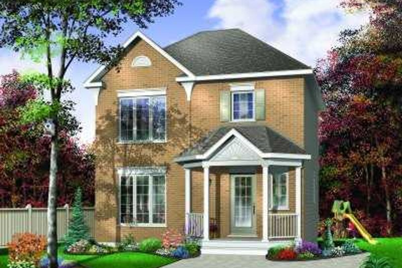 European Exterior - Front Elevation Plan #23-343 - Houseplans.com