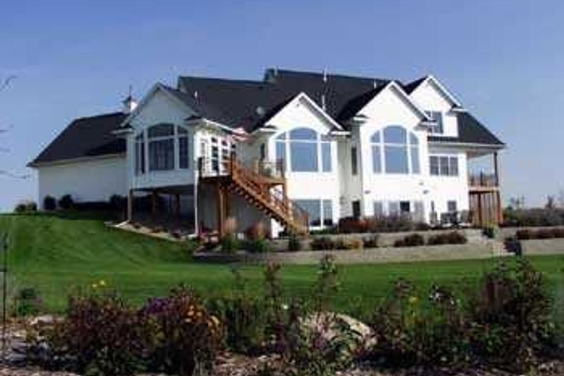 Farmhouse Exterior - Rear Elevation Plan #70-538 - Houseplans.com