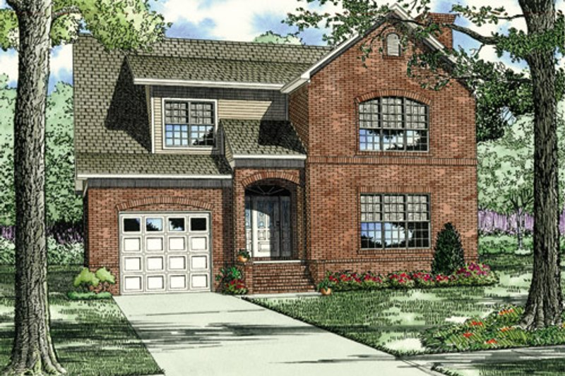 Traditional Style House Plan - 3 Beds 2.5 Baths 3499 Sq/Ft Plan #17-212 Exterior - Front Elevation