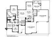 Ranch Style House Plan - 5 Beds 3.5 Baths 4406 Sq/Ft Plan #70-1502 Floor Plan - Main Floor