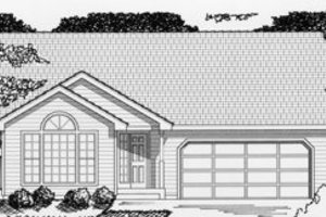 Ranch Exterior - Front Elevation Plan #112-103
