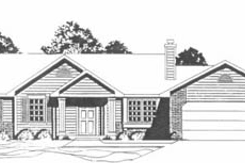 Ranch Exterior - Front Elevation Plan #58-156 - Houseplans.com
