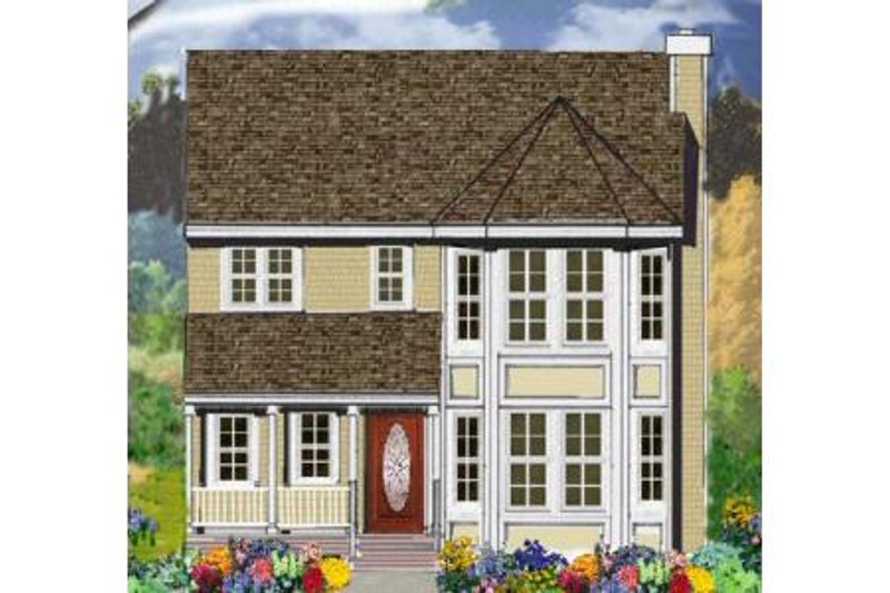 Farmhouse Style House Plan - 4 Beds 2.5 Baths 2373 Sq/Ft Plan #3-197 Exterior - Front Elevation