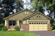 Bungalow Style House Plan - 3 Beds 2 Baths 1216 Sq/Ft Plan #116-262 Exterior - Front Elevation