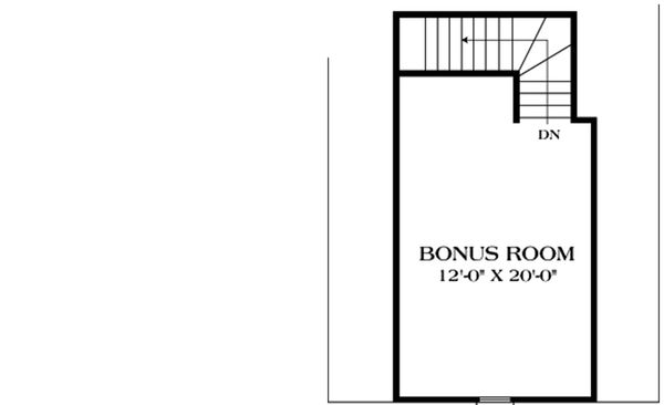 Upper level floor plan - 1400 square foot European home