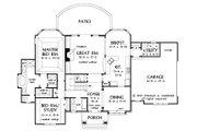 European Style House Plan - 4 Beds 3 Baths 2387 Sq/Ft Plan #929-570 Floor Plan - Main Floor