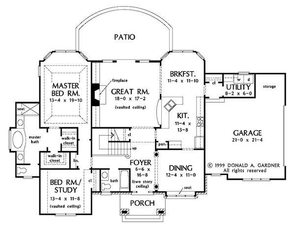 Dream House Plan - European Floor Plan - Main Floor Plan #929-570