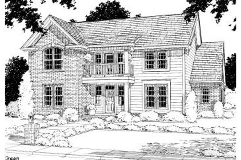 Traditional Exterior - Front Elevation Plan #20-311 - Houseplans.com