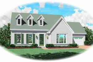 Colonial Exterior - Front Elevation Plan #81-225