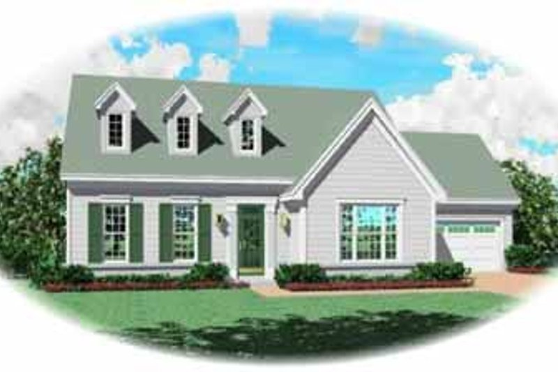 Colonial Style House Plan - 3 Beds 2.5 Baths 2048 Sq/Ft Plan #81-225