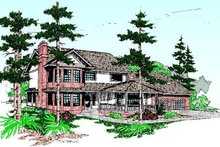 Dream House Plan - Traditional Exterior - Front Elevation Plan #60-199