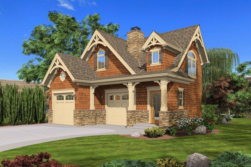 Craftsman Style House Plan - 1 Beds 1 Baths 855 Sq/Ft Plan #132-222