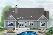 Ranch Style House Plan - 3 Beds 2 Baths 1651 Sq/Ft Plan #929-1090 Exterior - Rear Elevation