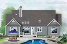 House Plan Design - Ranch Exterior - Rear Elevation Plan #929-1090
