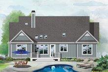 Architectural House Design - Ranch Exterior - Rear Elevation Plan #929-1090