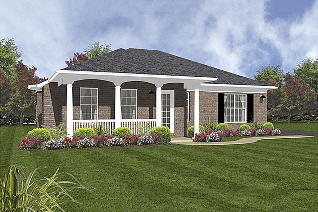 Colonial Style House Plan 2 Beds 2 Baths 1094 Sq Ft Plan 14 243 Builderhouseplans Com