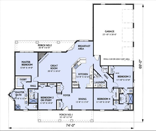 Traditional Floor Plan - Main Floor Plan Plan #44-122