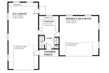 Cottage Floor Plan - Main Floor Plan Plan #118-127