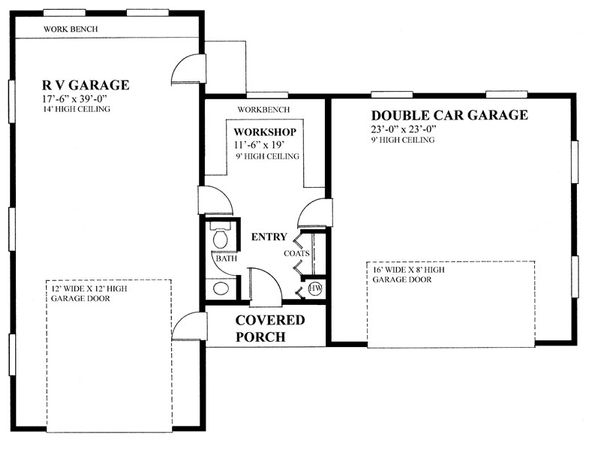 Cottage Floor Plan - Main Floor Plan Plan #118-127