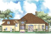 Mediterranean Style House Plan - 4 Beds 3.5 Baths 3304 Sq/Ft Plan #930-258 Exterior - Rear Elevation