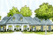 European Style House Plan - 3 Beds 2.5 Baths 2477 Sq/Ft Plan #36-443 Exterior - Front Elevation