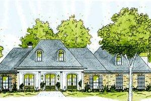 Architectural House Design - European Exterior - Front Elevation Plan #36-443