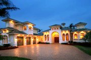 Mediterranean Style House Plan - 4 Beds 4.5 Baths 5841 Sq/Ft Plan #27-273 Exterior - Front Elevation