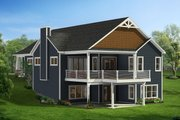 Craftsman Style House Plan - 2 Beds 2 Baths 1786 Sq/Ft Plan #1057-9 Exterior - Rear Elevation