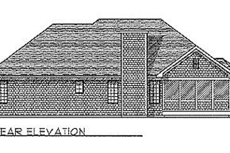 Traditional Exterior - Rear Elevation Plan #70-162 - Houseplans.com