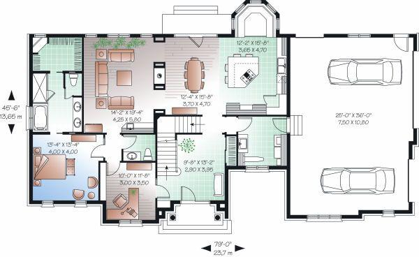 European Floor Plan - Main Floor Plan Plan #23-828