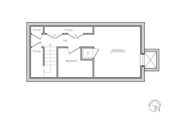 Modern Floor Plan - Lower Floor Plan Plan #914-1