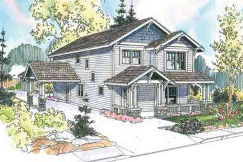 Craftsman Exterior - Front Elevation Plan #124-610