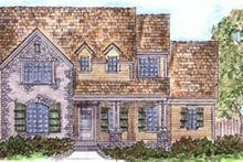 House Design - Tudor Exterior - Front Elevation Plan #410-265