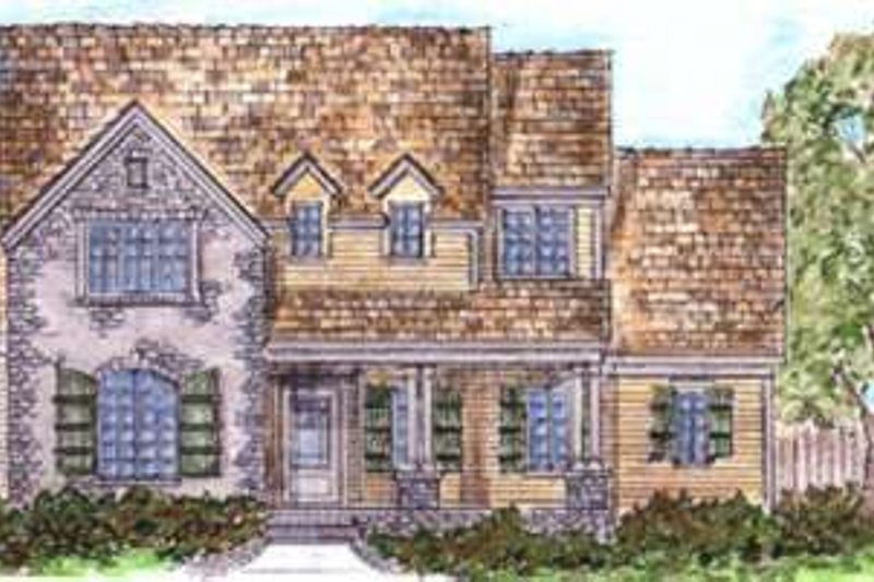 Tudor Exterior - Front Elevation Plan #410-265