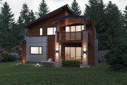 Contemporary Style House Plan - 6 Beds 5.5 Baths 5816 Sq/Ft Plan #1066-38 Exterior - Rear Elevation