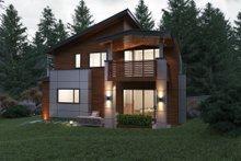 Home Plan - Contemporary Exterior - Rear Elevation Plan #1066-38