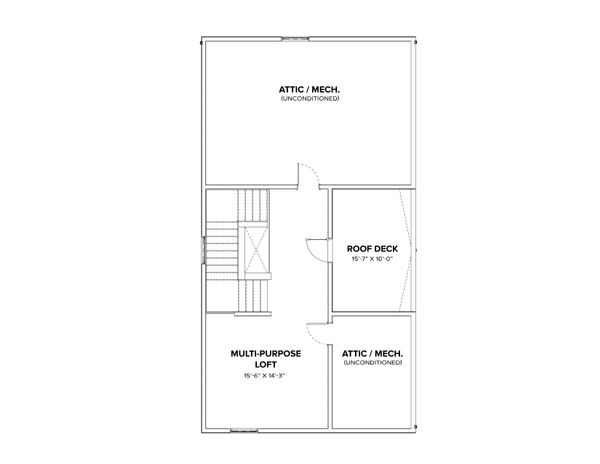 Modern Floor Plan - Other Floor Plan Plan #1076-3