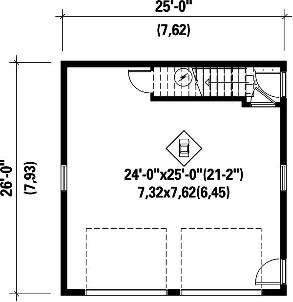 Farmhouse Floor Plan - Main Floor Plan Plan #25-4752