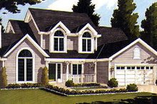 Country Exterior - Front Elevation Plan #3-177