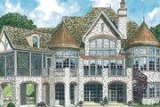 European Style House Plan - 4 Beds 4.5 Baths 5051 Sq/Ft Plan #453-90 Exterior - Rear Elevation