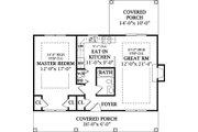 Cottage Style House Plan - 1 Beds 1 Baths 792 Sq/Ft Plan #456-30 Floor Plan - Main Floor Plan