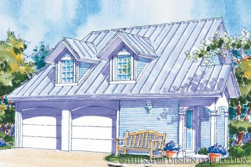 Country Exterior - Front Elevation Plan #930-83