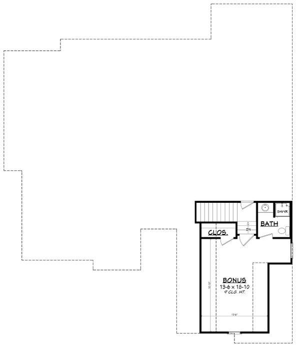 Country Floor Plan - Upper Floor Plan Plan #430-193