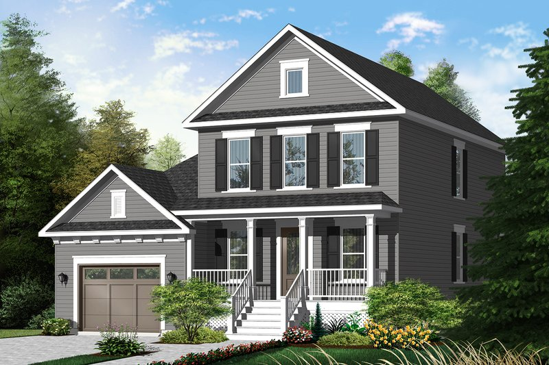 Country Exterior - Front Elevation Plan #23-2258
