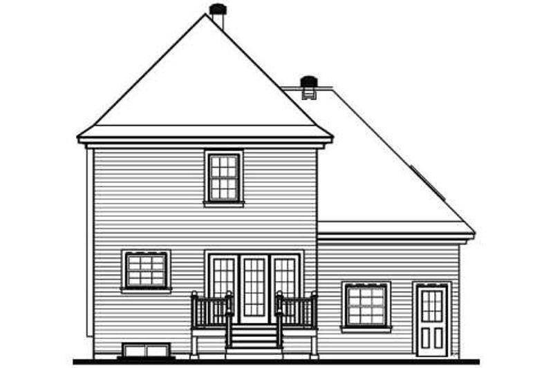 Victorian Exterior - Rear Elevation Plan #23-2001 - Houseplans.com